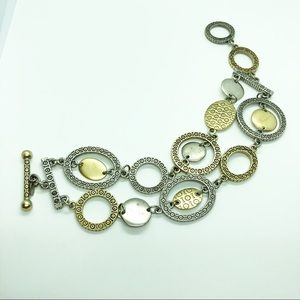 Premier Designs Chain Link Bracelet Mixed Metal